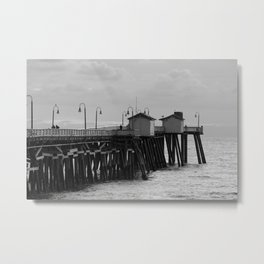 San Clemente Pier One A Cold Day Metal Print