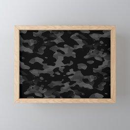 Camouflage Noir/Gris Framed Mini Art Print