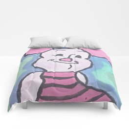 Piglet Acrylic on Canvas Comforters