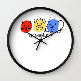 les animaux Wall Clock