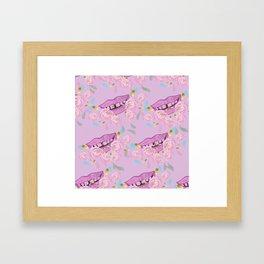 Floral Smile Framed Art Print