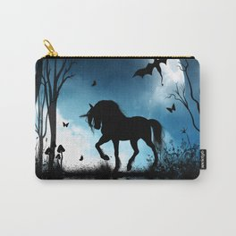 Beautiful unicorn with flying dragon in the sky Carry-All Pouch
