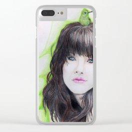 Copper Rumped Hummingbird Clear iPhone Case