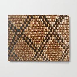 Native American basket pattern Metal Print