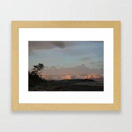 Sunset on Bishop's Beach - Homer, AK Framed Art Print