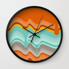 ColorDrip Wall Clock