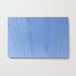 lines over blue Metal Print
