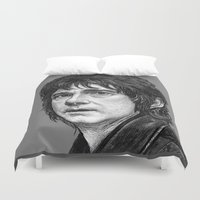 the hobbit Duvet Covers featuring HOBBIT by zinakorotkova