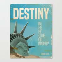 planet of the apes Canvas Prints featuring Destiny Statue of Liberty  by Nick's Emporium Gallery