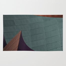 Architectural abstract of the home of the LA Philharmonic. Architect: Frank Gehry Rug