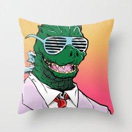 Kaiju Kool Kids_Big G Throw Pillow