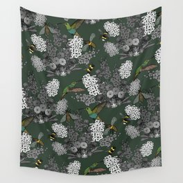 Hummingbirds and Bees (don't let them fade away) Wall Tapestry