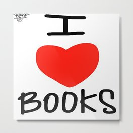 I Love Books Metal Print