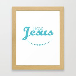"""Faithful Person? Party Person? A Tee Saying """"I Love Jesus But I Drink A Little"""" T-shirt Design Faith Framed Art Print"""