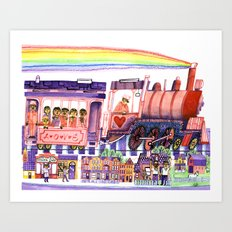 Get on the Love Train! Art Print