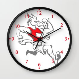 donkey mascot winning a marathon Wall Clock