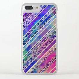 Botanical Stripe Clear iPhone Case
