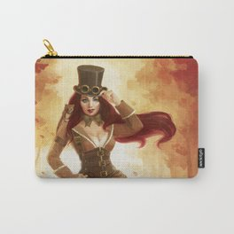 """""""A Sneak Of Weasels"""" Steampunk Pin-Up Carry-All Pouch"""