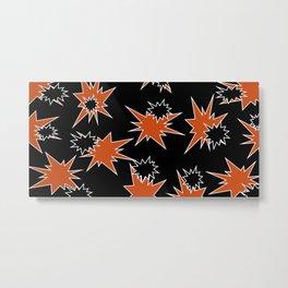 Stars (Orange & Black on Black) Metal Print