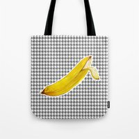 banana Tote Bags featuring Banana by Ozghoul