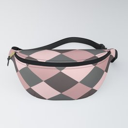 Brown pink plaid Fanny Pack