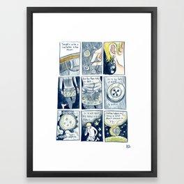 Love Letter to the Moon Framed Art Print