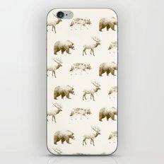 Wild Pattern // Brown iPhone & iPod Skin