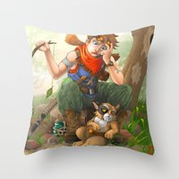 camp Throw Pillows featuring camp by Fargon