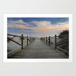 "The path..., the beach II .... ""Artola"". Art Print"