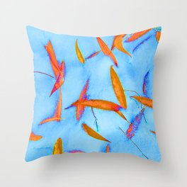 Blue and Bright Throw Pillow