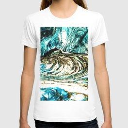 BLUE & WHITE SMEAR T-shirt