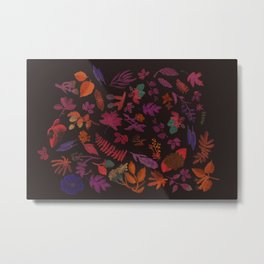 Maine Flora (Dark) Metal Print