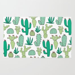 Cactus on White Rug