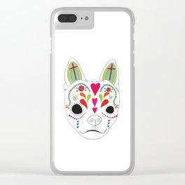Devereux Sugar Skull Clear iPhone Case