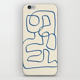 Abstract line art 16 iPhone Skin