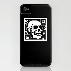 QR- Dead iPhone (4, 4s) Slim Case