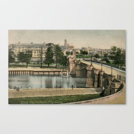 York general view and castle 1900 Canvas Print