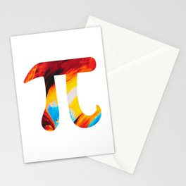 Abstract Space Pi Stationery Cards