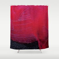 oil Shower Curtains featuring Red oil by MargherittaVi