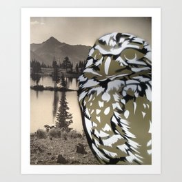 Owl Landscape Art Print