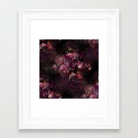 peony Framed Art Prints featuring peony by MINTSENSEART