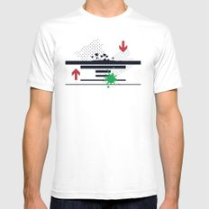 The Palms Mens Fitted Tee MEDIUM White