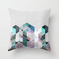 nordic Throw Pillows featuring Nordic Combination 23 by Mareike Böhmer
