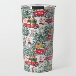 Dachshund decorates the christmas tree Travel Mug