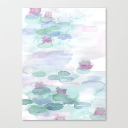 Monet Lily pads Canvas Print