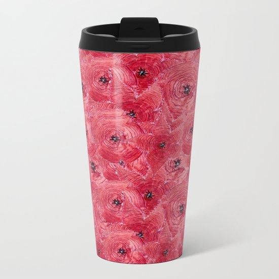 Red poppies Metal Travel Mug