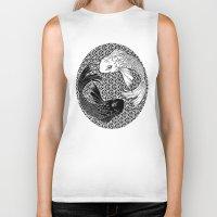 yin yang Biker Tanks featuring Yin &Yang by ZE-DESIGN