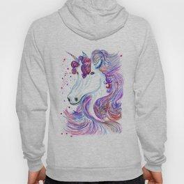 Rainbow unicorn portrait Hoody