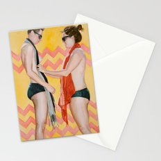 Liv and Beck in Yellow and Salmon Stationery Cards