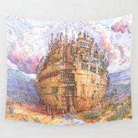 ursula Wall Tapestries featuring La Citta' Sferica by Luca Massone